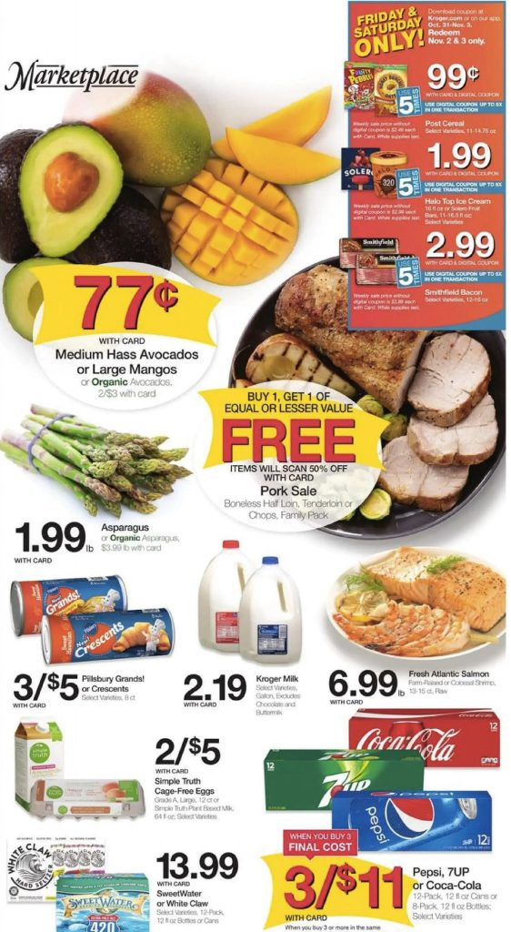 Example of a promotional flyer from a grocery retailer