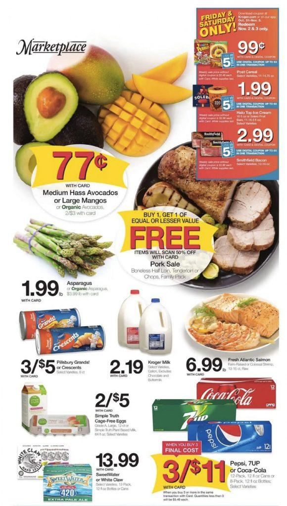 Ejemplo del flyer promocional de un supermercado